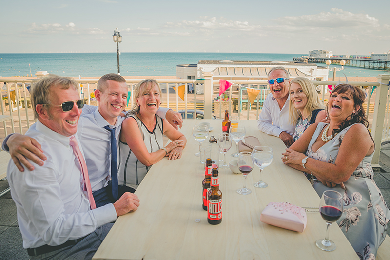Worthing Dome Wedding Reception On Seafront Balcony