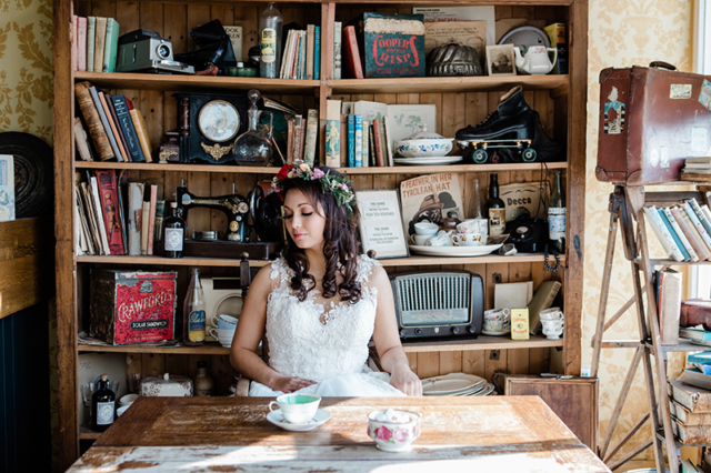 Bridal Portrait In Worthing Tea Room