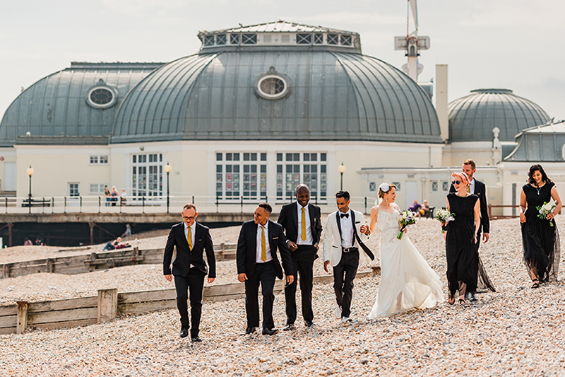 Wedding Portraits On Worthing Beach