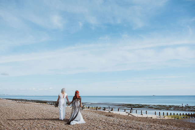 Worthing Wedding Walking Brides Portrait