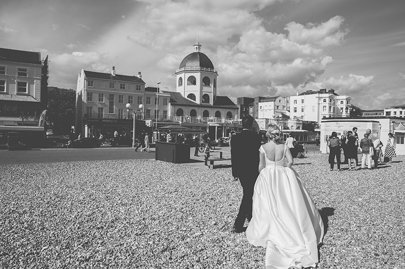 Wedding photography On Worthing Beach