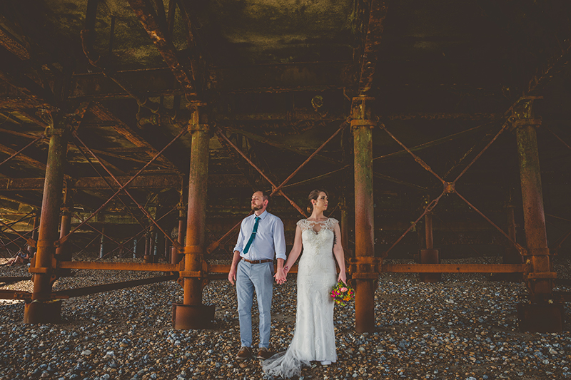 Wedding Photography Beneath Worthing Pier