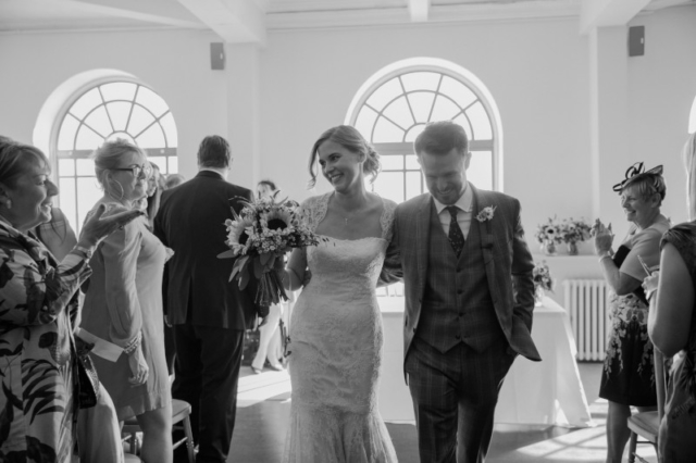 Just Married, Worthing Dome Wedding Ceremony